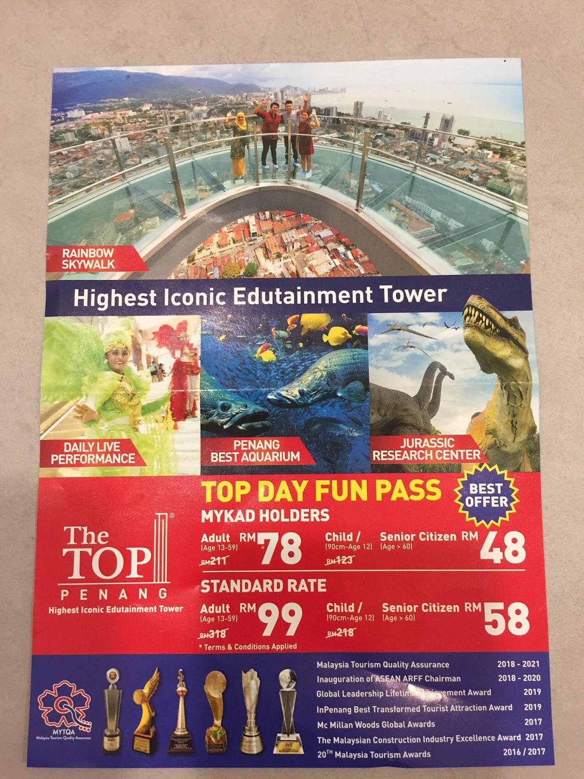 the top komtar, sky walk, top view promotion, top view restaurant