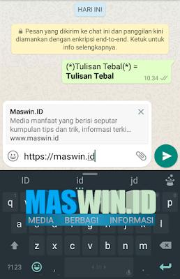 Begini cara mengubah tulisan Bold pada WhatsApp