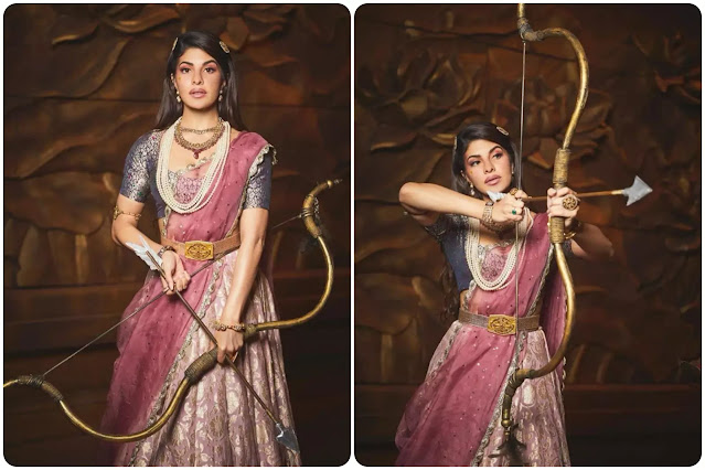 Jacqueline Fernandez traditional hairstyle