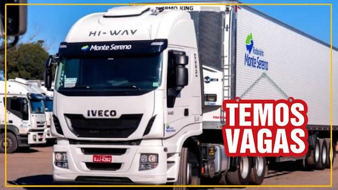 Transportadora Monte Sereno abre vagas para Motorista