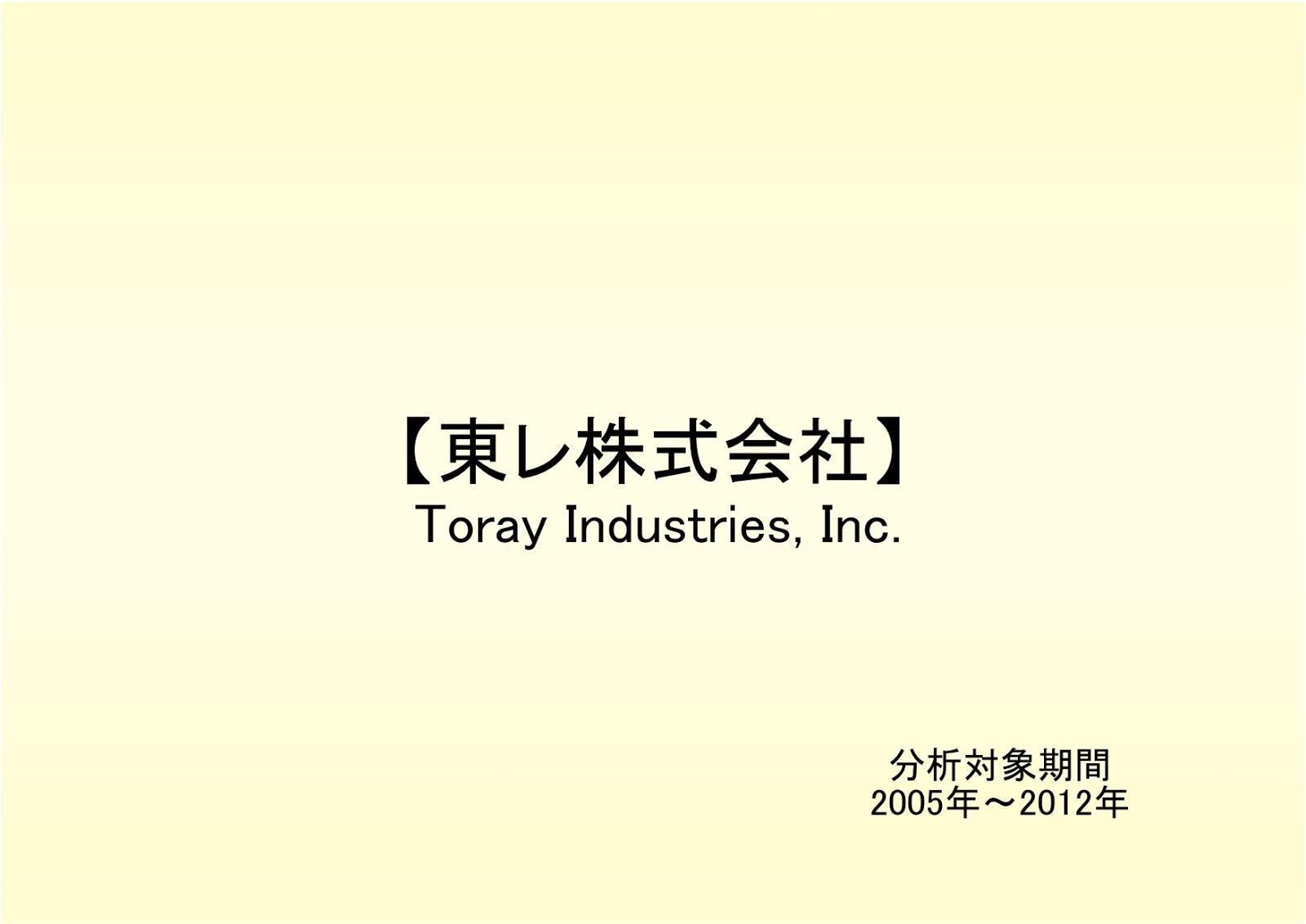 東レ株式会社の財務状況