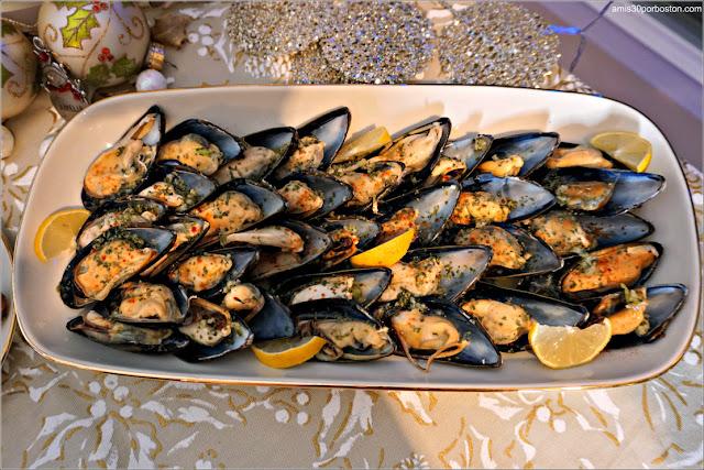 Mejillones al Vapor de Entrante en Nuestra Cena de Nochevieja
