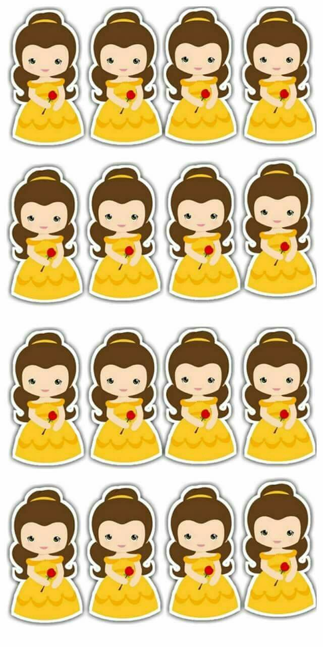 Beauty And The Beast Baby Free Printable Cake Toppers Oh My Baby