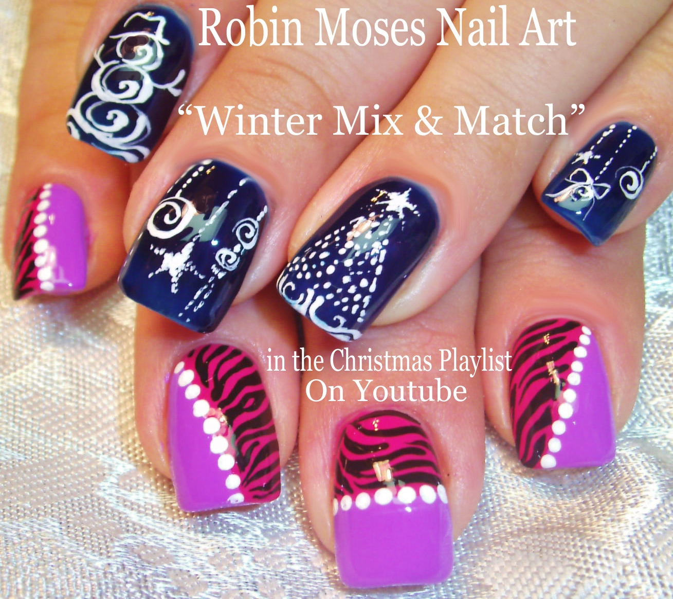 Christmas Lights Nails Pinterest: Robin Moses Nail Art: Christmas Lights At Night Nail Art