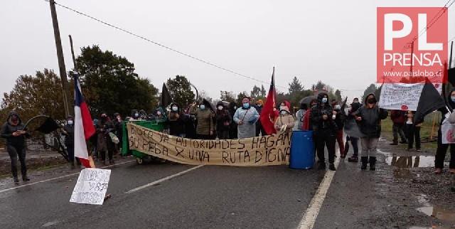 Manifestación Ruta V-815