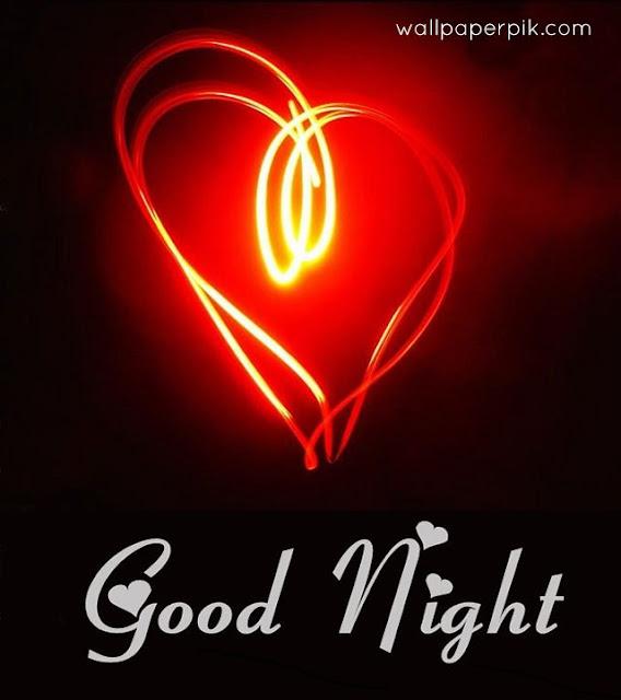 good night heart pics photo