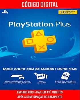 PlayStation Plus Brasileira 3 Meses de Assinatura