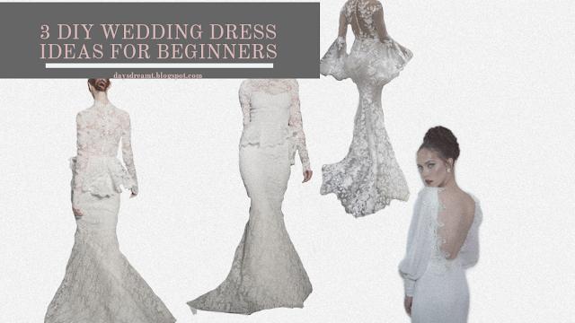 Easy begginers friendly wedding dress to diy