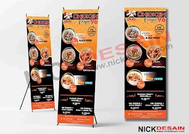 Contoh Desain Standing Banner Chicken Crispy - Percetakan Tanjungbalai