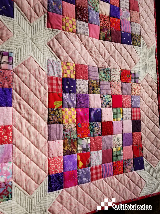 Scrap Happy crosshatch quilting