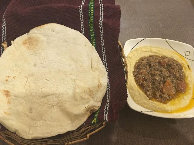 pita bread and humus