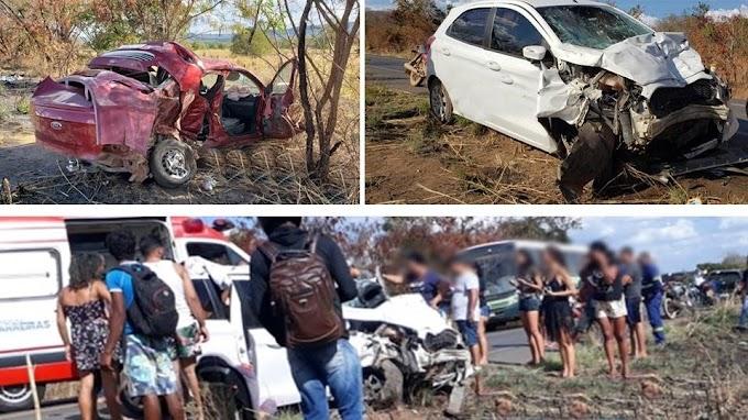 Barreiras/São Desidério: Colisão entre dois veículos na BR-135, deixa pelo menos quatro feridos