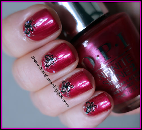 OPI Infinite Shine: Merry In Cranberry