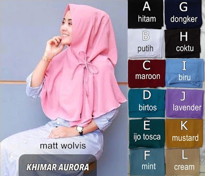 Grosir Jilbab Khimar Aurora