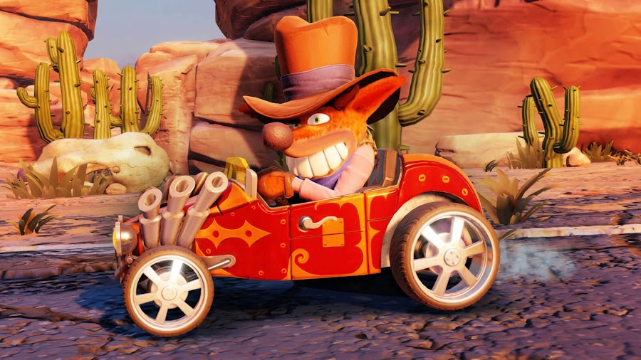 crash team racing nitro-fueled kart character customization