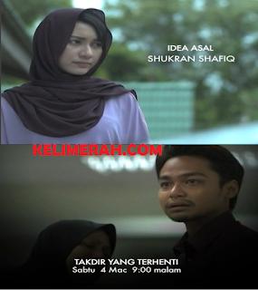 Zara Zya dan Syafiq Kyle sebagai pelakon utama, hero dan heroin telefilem Takdir Yang Terhenti