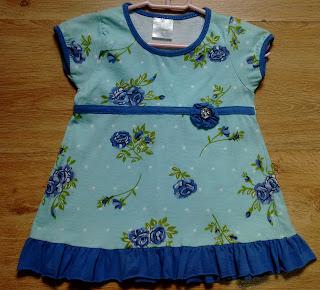 vestido infantil em malha tam 2