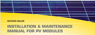 INSTALATION ET MAINTENANCE MANUAL FOR PV MODULES