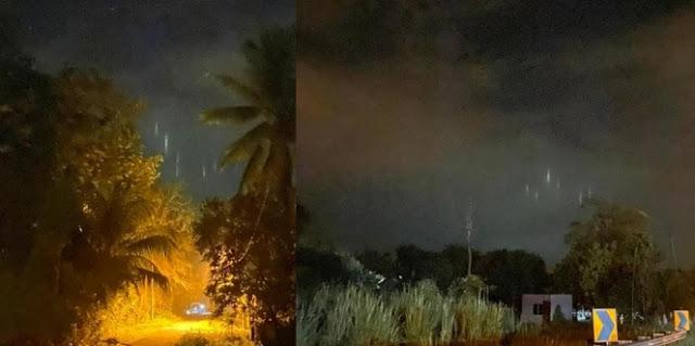 Penampakan Garis Puth Di Langit Saat Hari Pertama Ramadhan 1441 H. (Foto: Facebook Farizal Alimi)