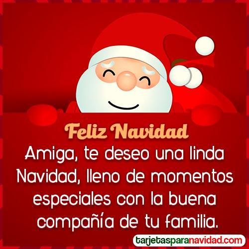tarjeta feliz navidad amiga