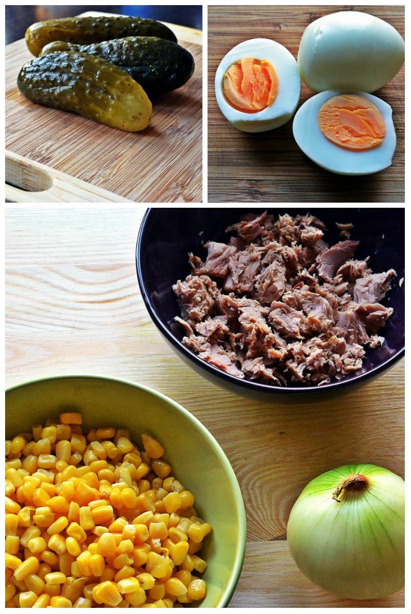 Sałatka z tuńczyka - składniki