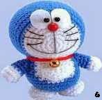 patron gratis Doraemon amigurumi, free amigurumi pattern Doraemon