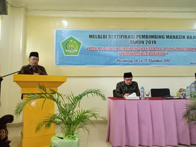 Kemenag Sumsel Gelar Sertifikasi Pembimbing Manasik Haji