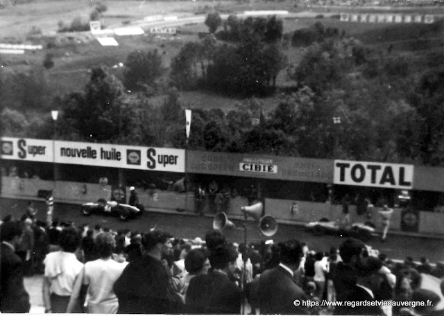 Circuit de Charade, photo noir et blanc