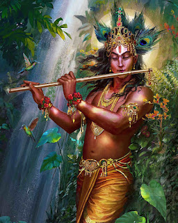 Lord Krishna Playing Flute Painting Hd Wallpaper, Lord Krishna Painting Hd Wallpaper, Lord Krishna HD Wallpaper, Lord Krishna Wallpaper, Lord Krishna Hd Photo, Lord Krishna HD images,