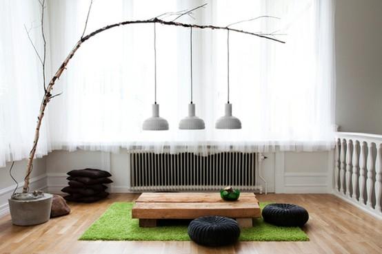 Desain Ruang Keluarga Minimalis Lesehan