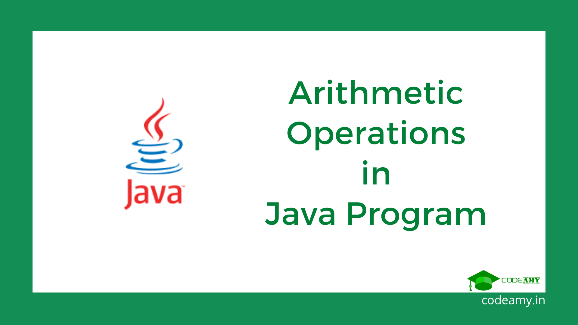 java program for arithmetic operators