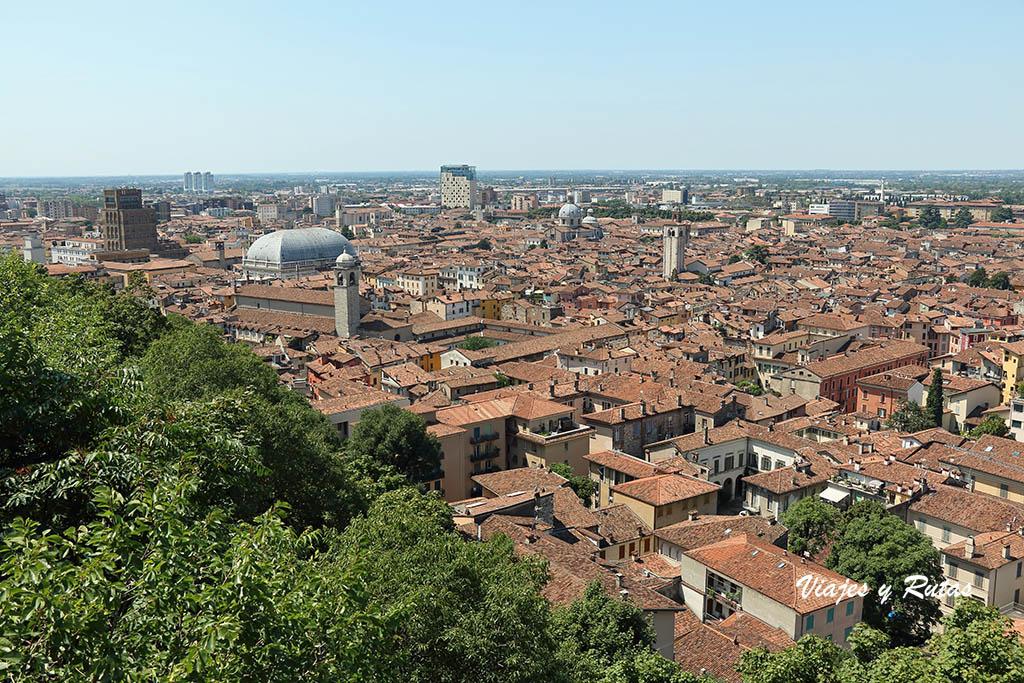 Vistas de Brescia desde el Castillo