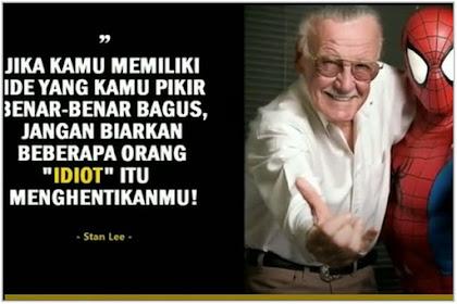 """Kisah Sukses Stan Lee dan Motivasi Sukses Dibalik Penciptaan Karakter  """"Spiderman"""""""