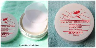 MAVALA Acetone Free Nail Polish Remover pads