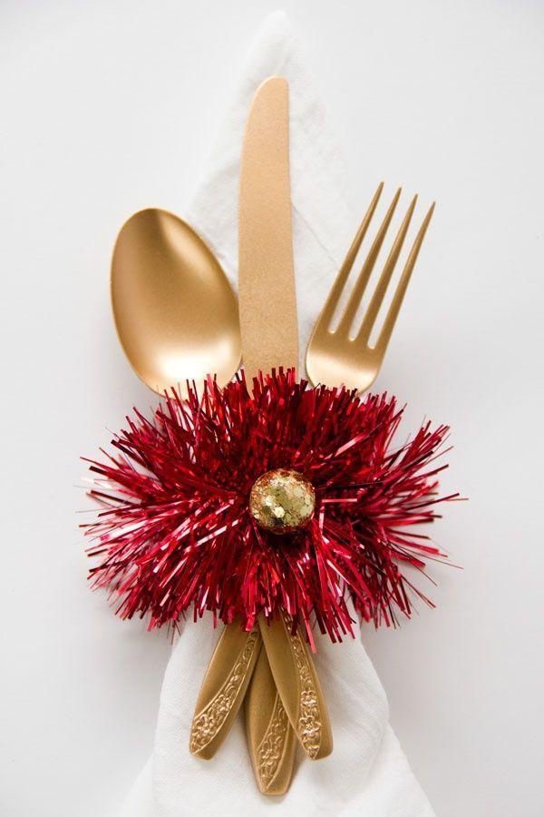 7 servilleteros diy para lucir en tu mesa de Navidad