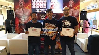 A Mumbai guy wins  Road to WrestleMania Contest at Oberoi Mall