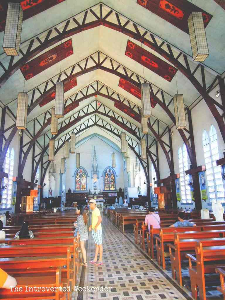 The cavernous interiors of the Immaculate Conception Cathedral