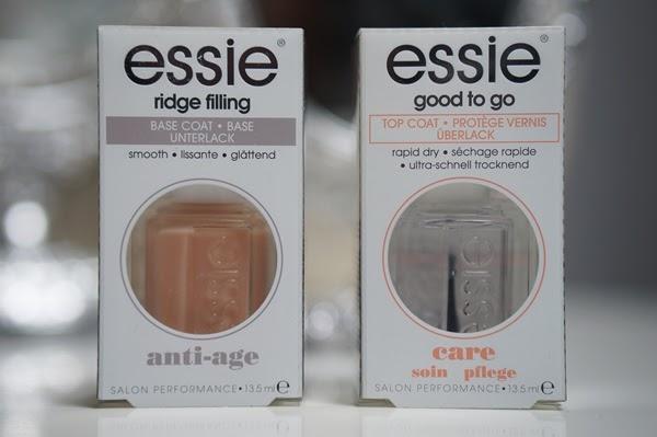 Essie Ridge Filling basecoat & Good To Go topcoat