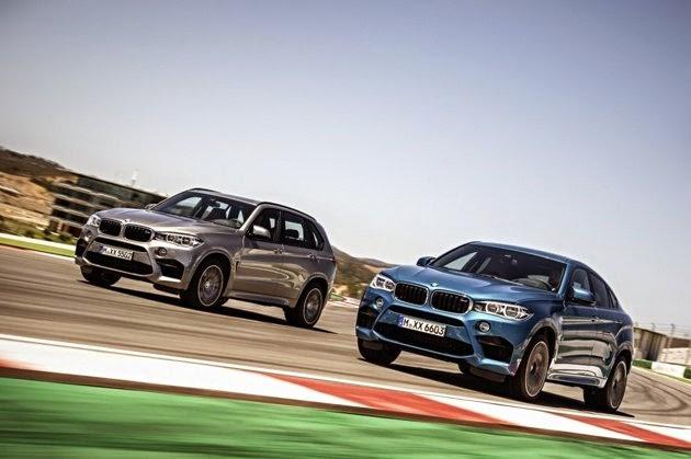 BMW X5 et X6 M au salon Los Angeles 2014