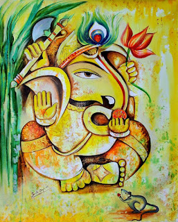 lord ganpati paintings on canvas images