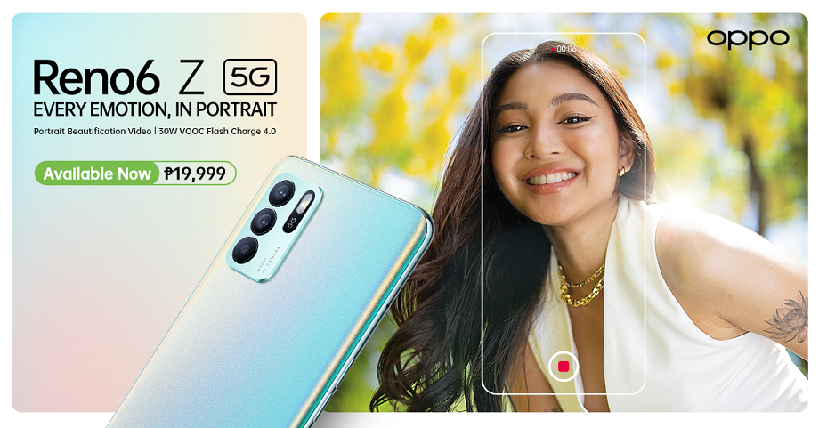 OPPO Reno6 Z 5G now available for PHP 19,999