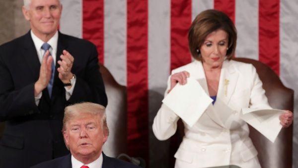 Gesto de Pelosi ante Trump muestra división política en EE.UU.