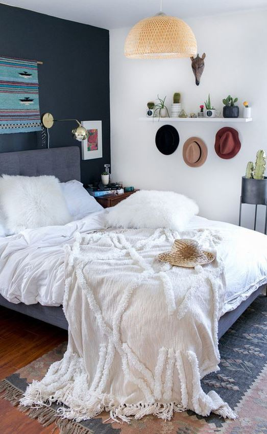 nodern boho bedroom decor idea