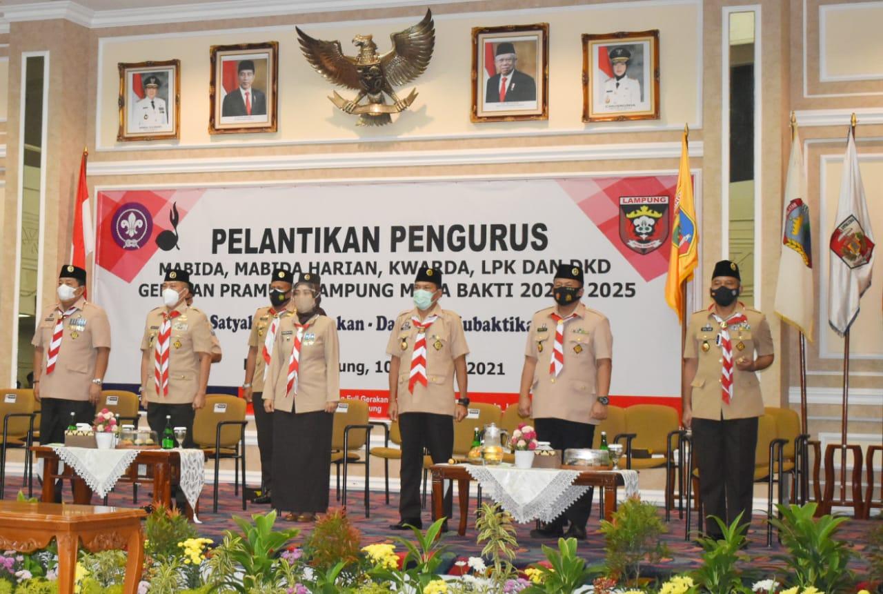 Danrem 043Gatam dilantik Sebagai Majelis Pembimbing Daerah oleh Sekjen Kwartir Nasional Gerakan Pramuka.