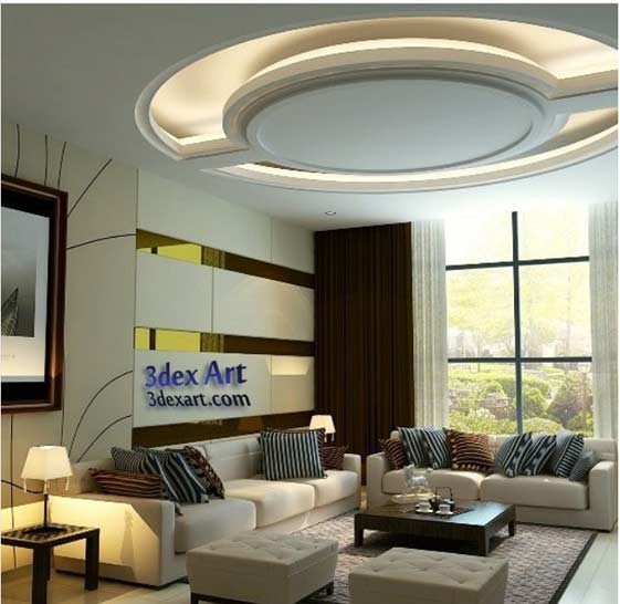 Latest false ceiling designs for living room and hall 2019 - Simple ceiling design for living room ...