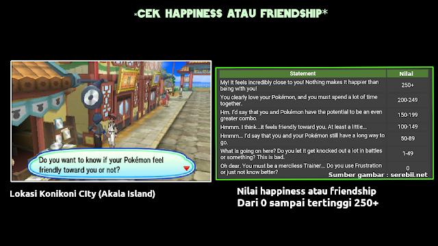 Mudah!Cara Meningkatkan happiness atau friendship Di Pokemon Ultra Sun And Moon Indonesia