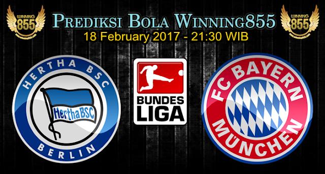 Prediksi Skor Hertha BSC Vs Bayern Munchen 18 February 2017