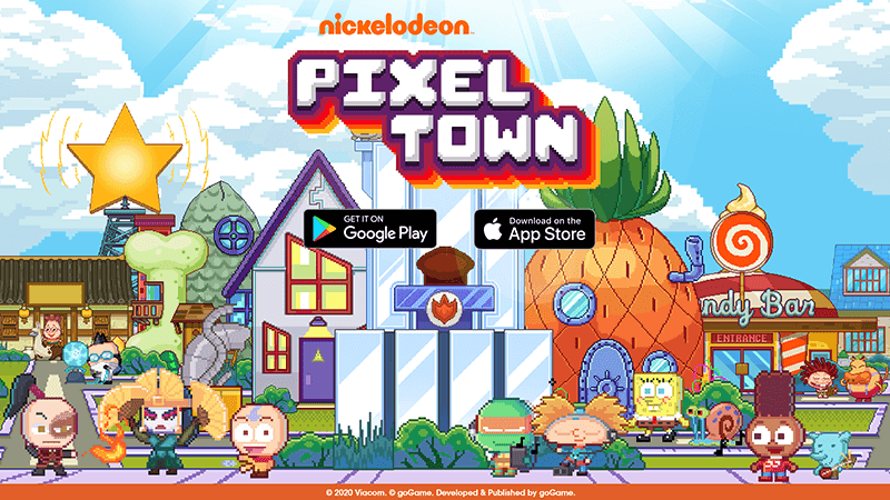 Nickelodeon Pixel Town now available in Google Play and Apple App Store