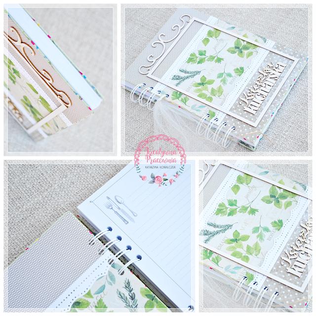 książka kucharska handmade