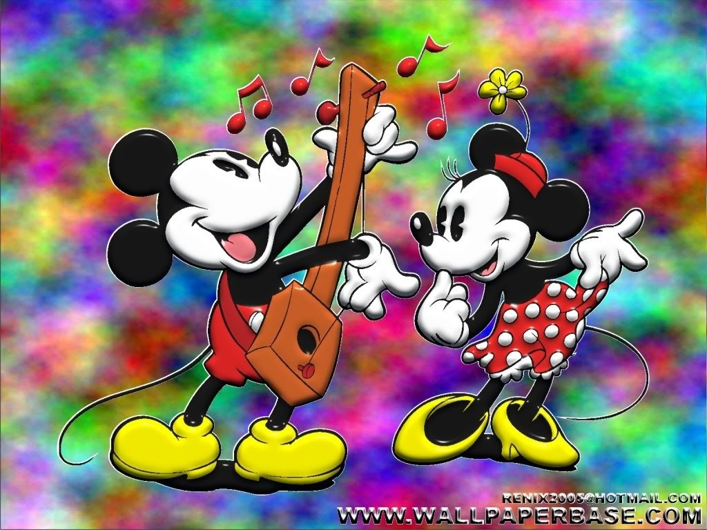Disney Whimsey Mickey And Minnie Mouse